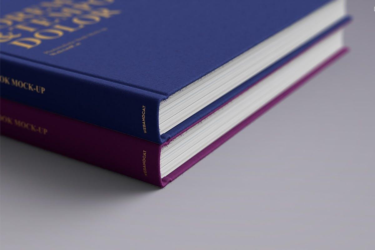 12款逼真封面烫金效果精装书画册设计展示智能贴图样机模板 Book Mockup插图(5)