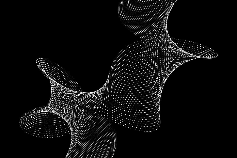 10款抽象虚线波浪漩涡底纹背景PNG免抠图片素材 Abstract Dotted Wavy Swirls Backgrounds插图(5)
