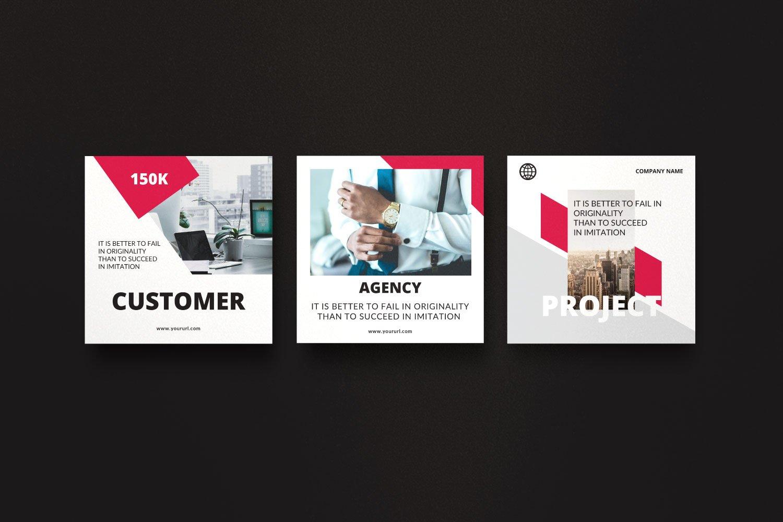 时尚几何元素修饰品牌推广新媒体电商徽标模板 ROGUE – Business Social Media Brand插图(6)