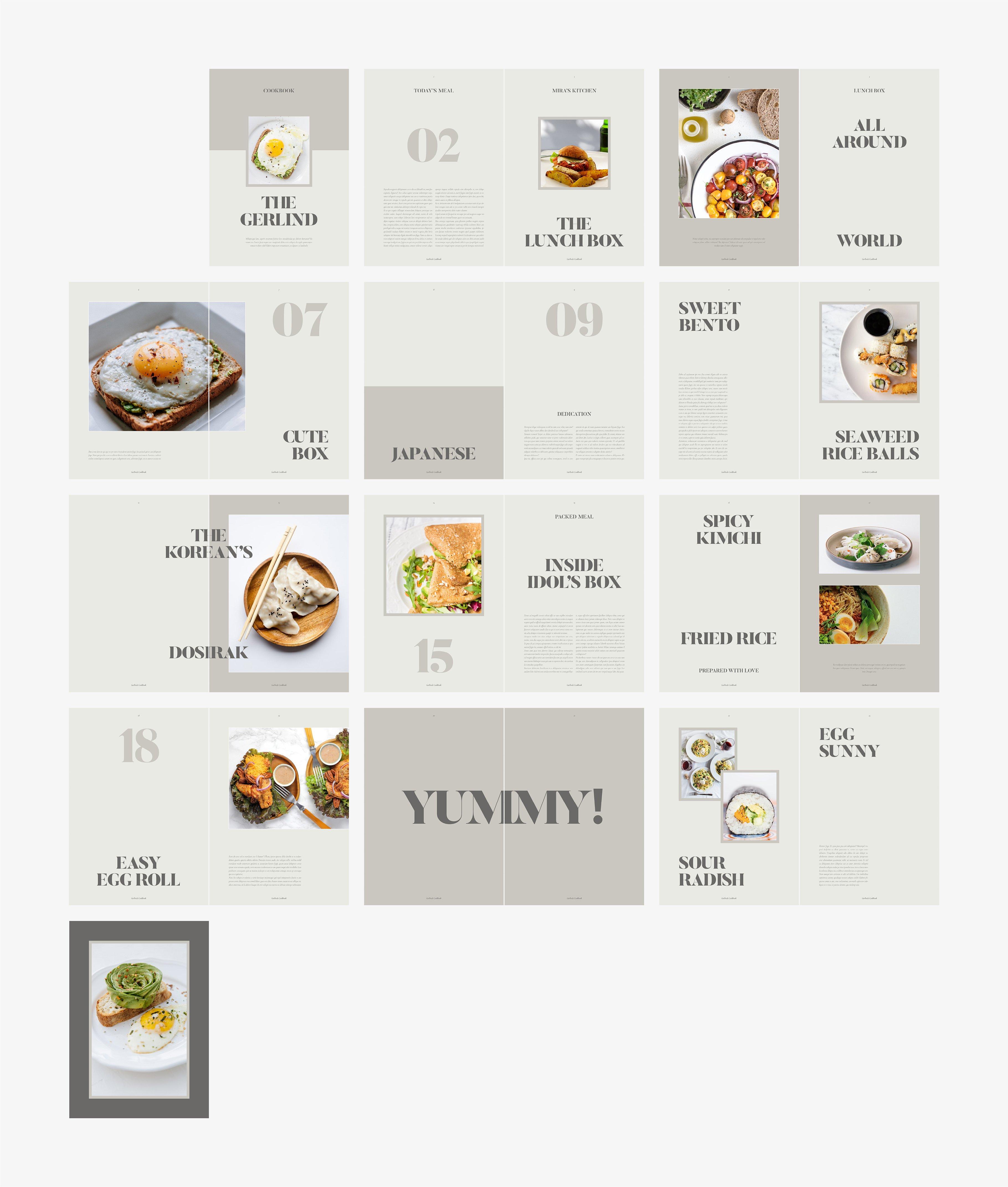 美食食谱菜单设计INDD画册模板 GERLIND Food Recipe Cookbook插图(6)