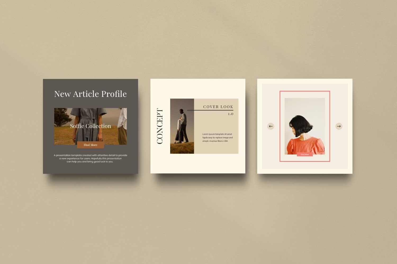 现代时尚服装品牌摄影推广新媒体电商海报模板 Soffie – Fashion Brand Social Media插图(6)