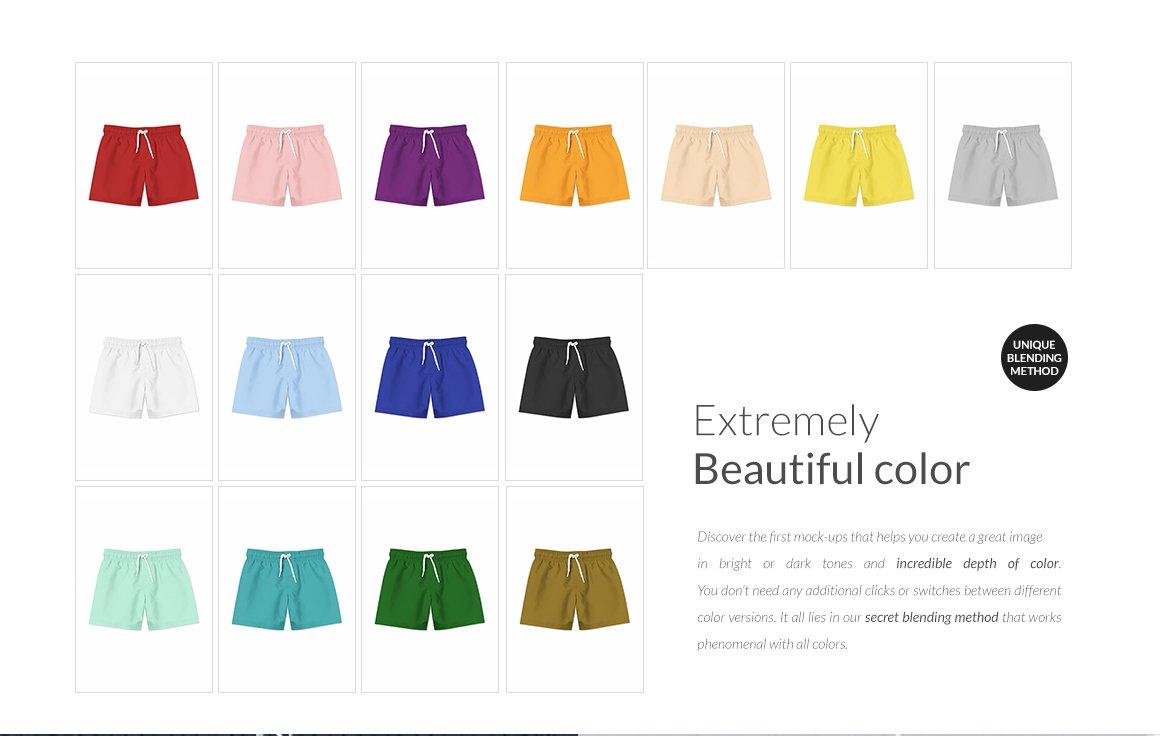 婴儿游泳短裤裤衩印花图案设计展示样机套装 Baby Swimming Shorts Mockups Set插图(11)