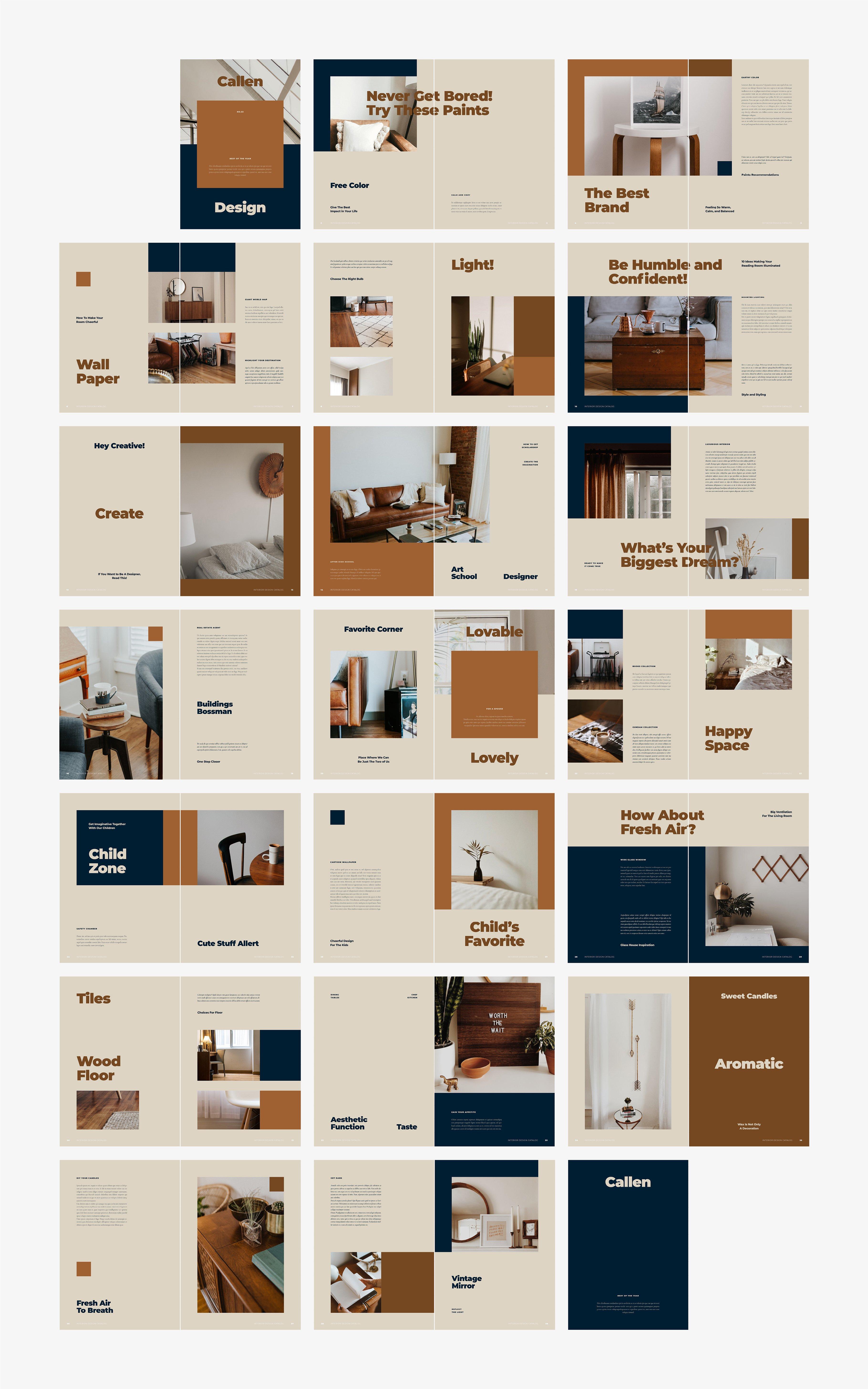室内设计摄影作品集目录INDD画册模板 CALLEN Interior Design Catalog插图(6)