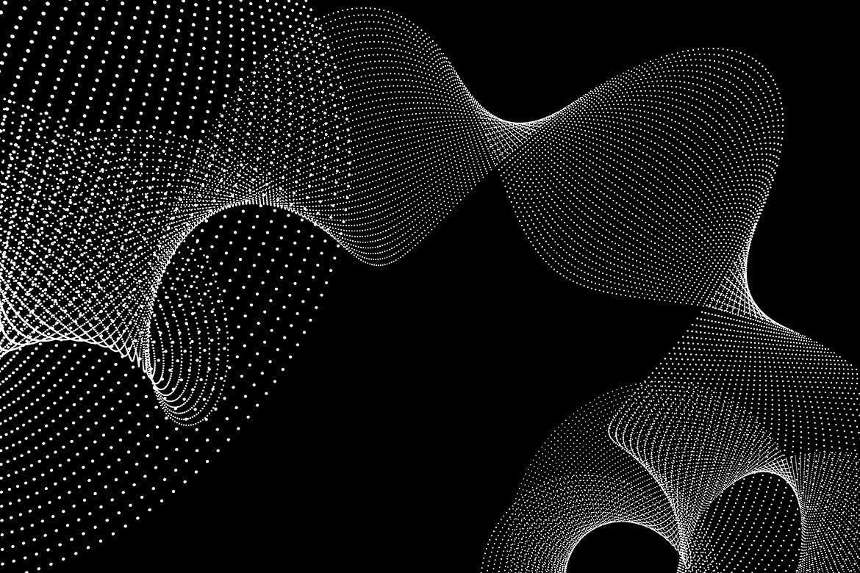 10款抽象虚线波浪漩涡底纹背景PNG免抠图片素材 Abstract Dotted Wavy Swirls Backgrounds插图(6)