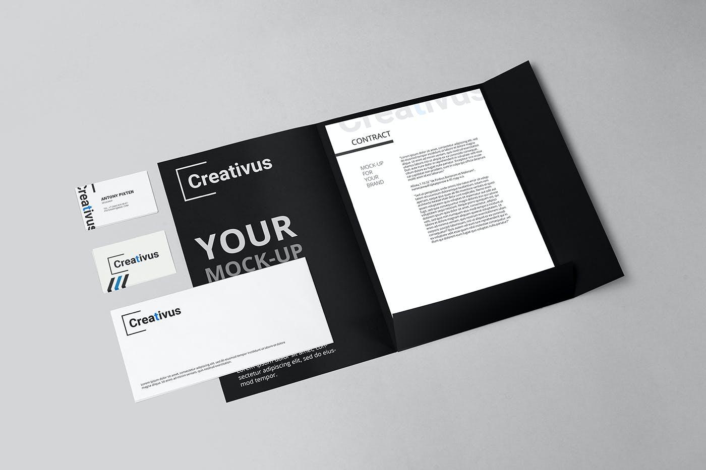 7款品牌LOGO设计办公用品展示贴图样机 Branding Stationery Mockup插图(6)