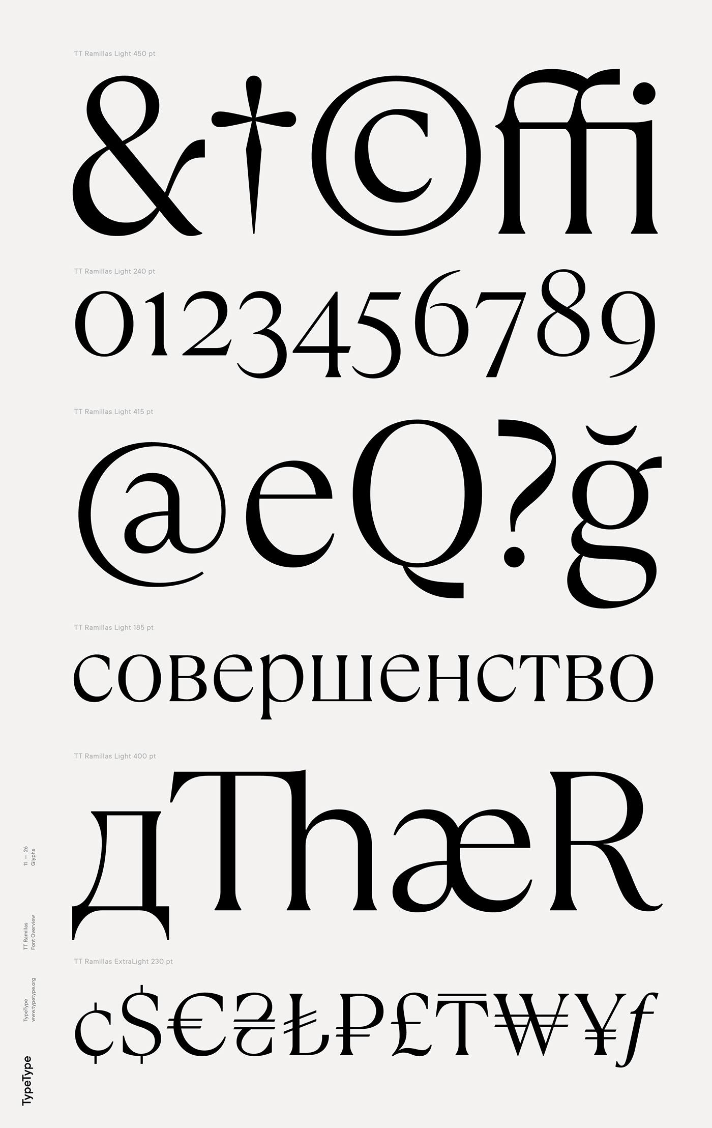 时尚海报标题文字设计衬线英文字体素材 Ramillas Typeface插图(5)