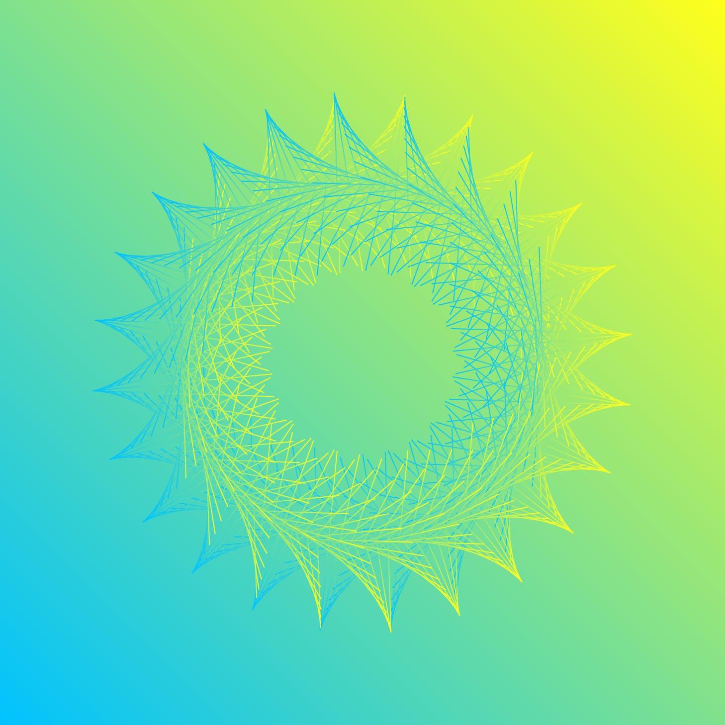 8款螺旋状线条网格矢量图案素材 Geometric Spiral Collection插图(6)