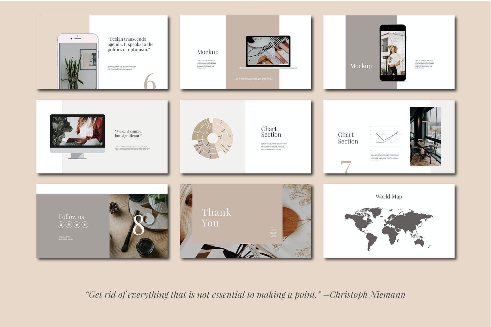 时尚简约摄影作品集图文排版设计演示文稿模板 Audrey – Powerpoint Template插图(6)