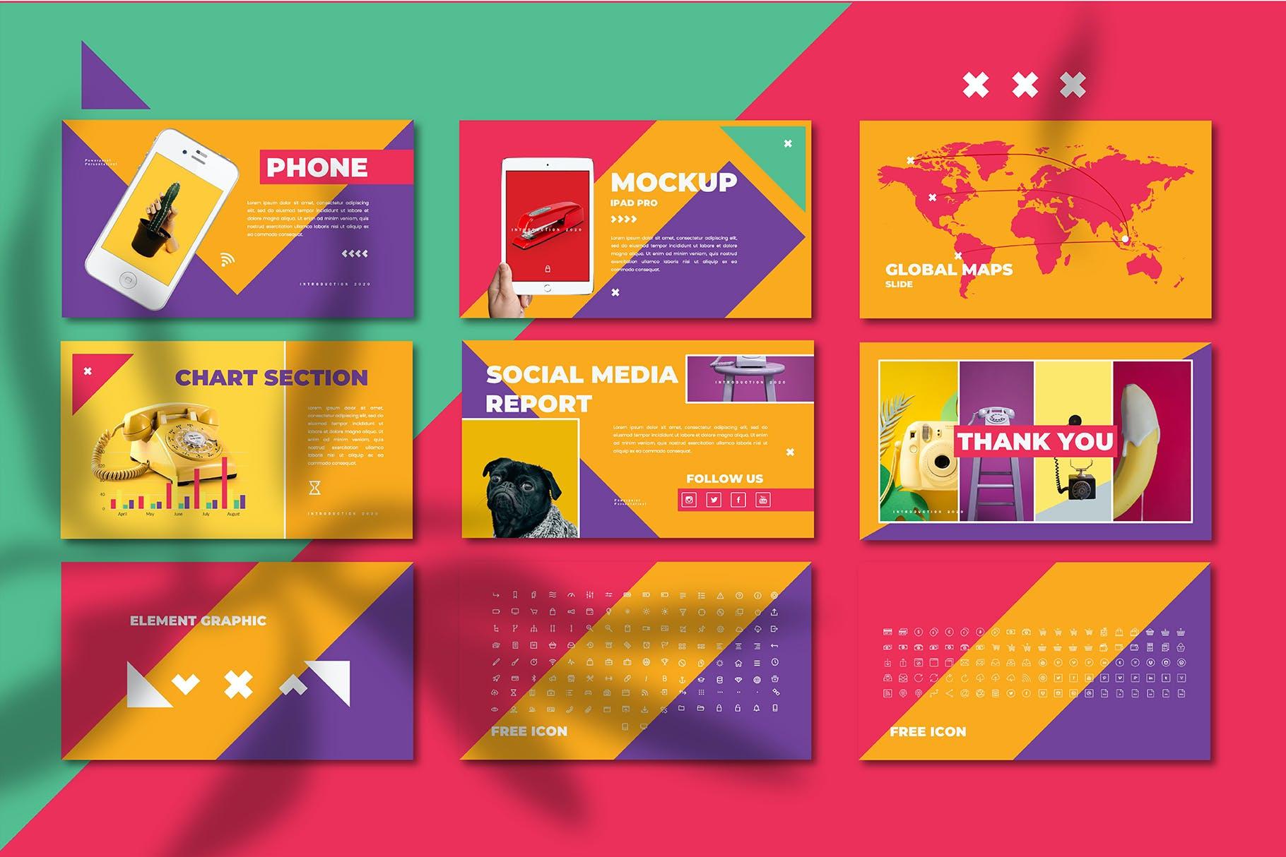多彩营销策划案PPT幻灯片设计模板 Cheerful – Power Point Template插图(6)