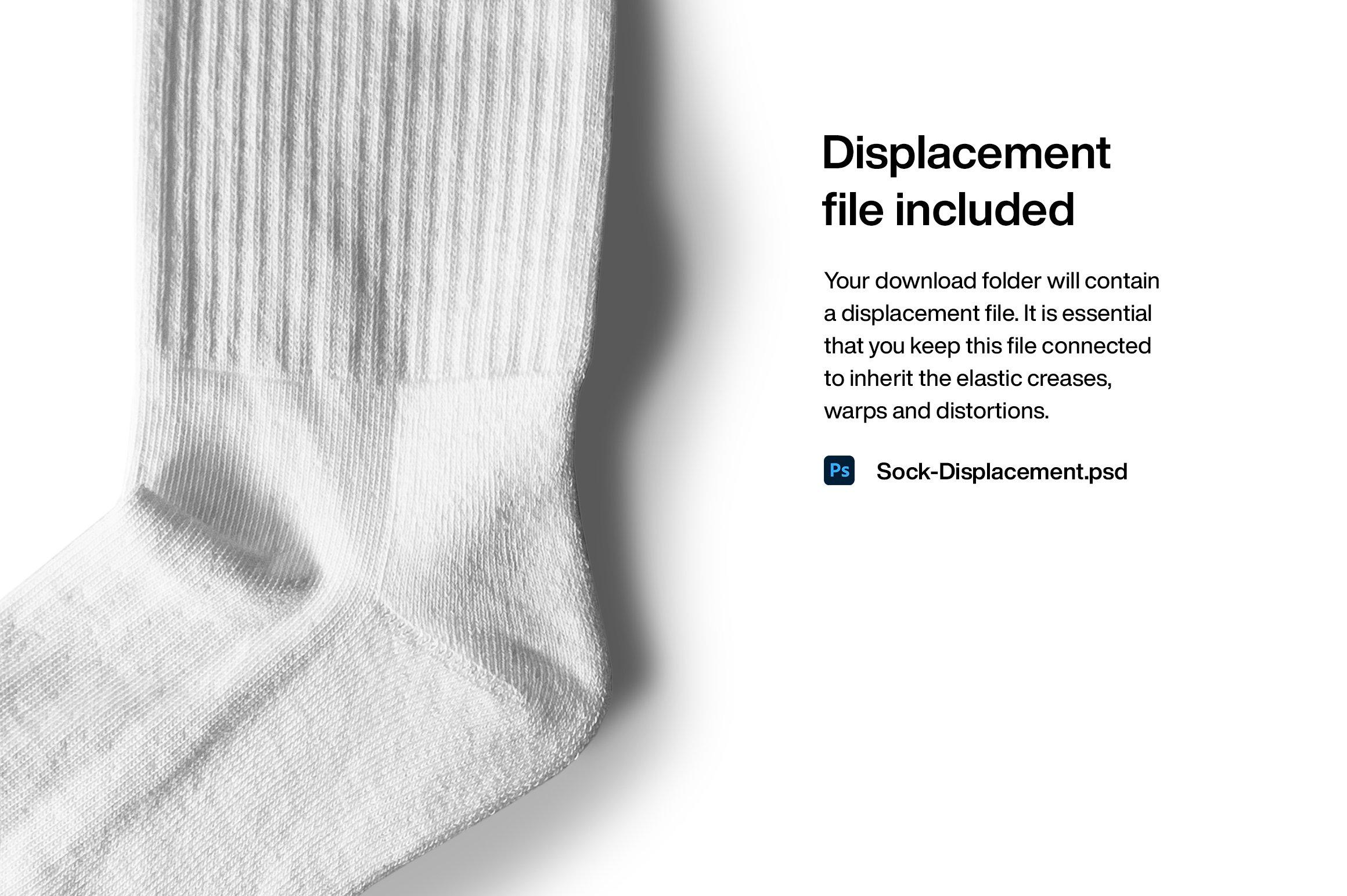 简约运动长筒袜子印花图案设计展示贴图样机 Sports Socks Mockup插图(6)