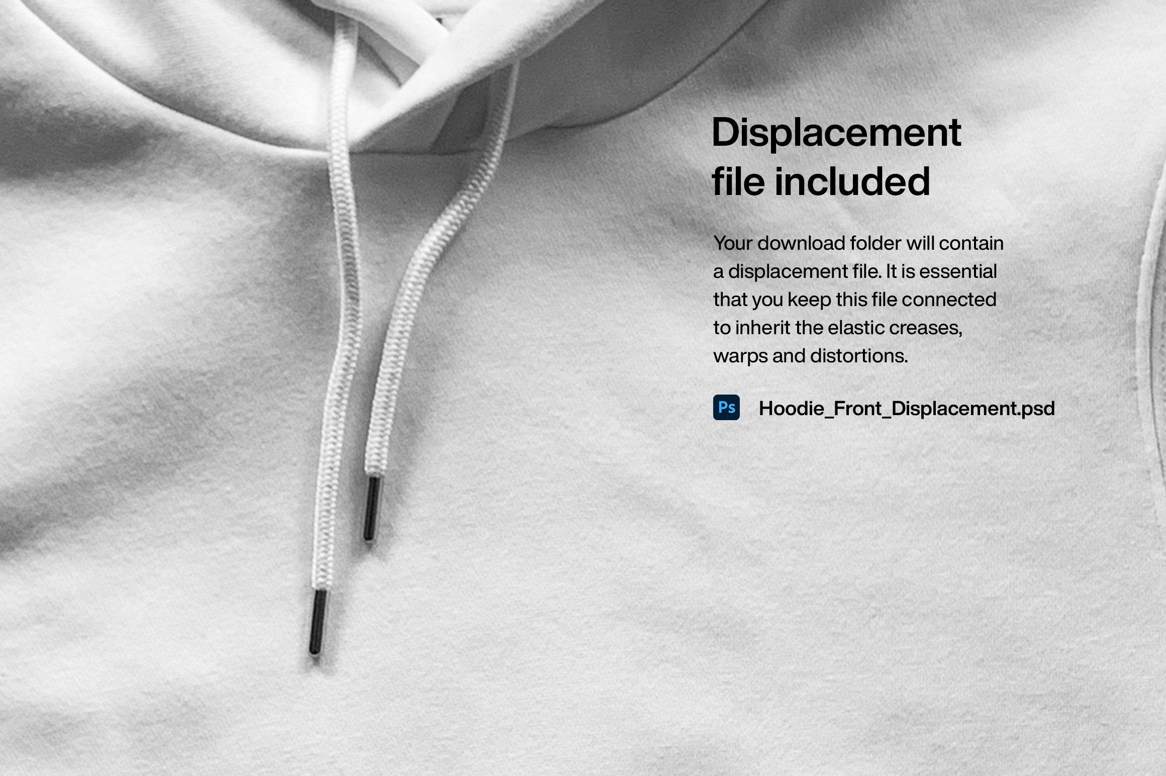 连衣帽卫衣正面印花图案设计展示贴图样机模板 Hoodie Front Mockup插图(6)