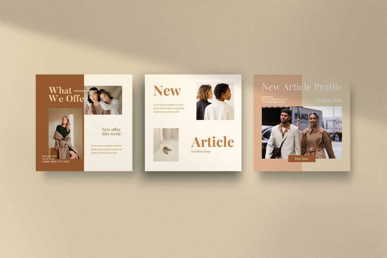 现代时尚服装品牌摄影推广新媒体电商海报模板 Soffie – Fashion Brand Social Media插图(7)