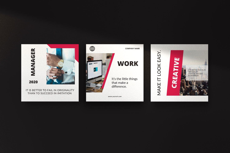 时尚几何元素修饰品牌推广新媒体电商徽标模板 ROGUE – Business Social Media Brand插图(7)