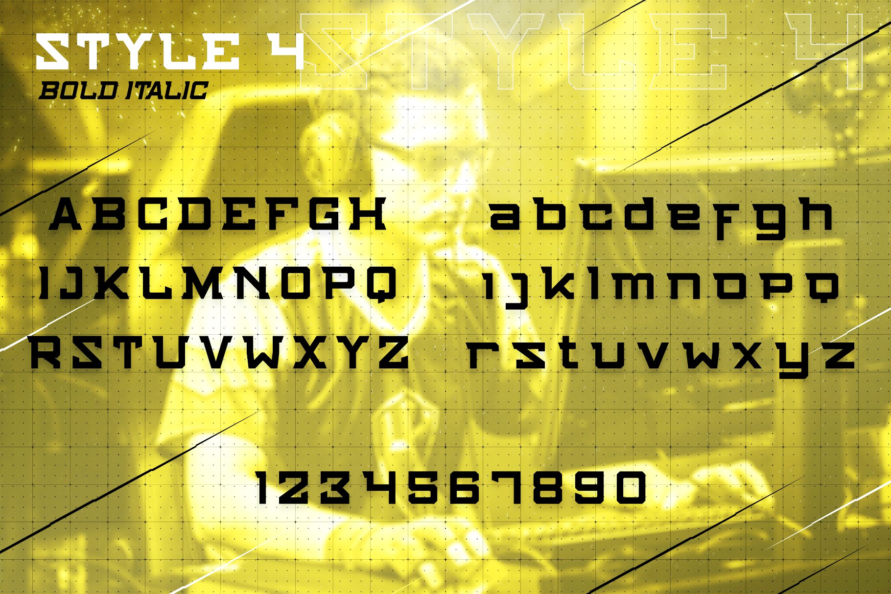 体育电竞行业品牌LOGO海报标题文字设计无衬线英文字体素材 STUNNER – NFC Font Family插图(5)