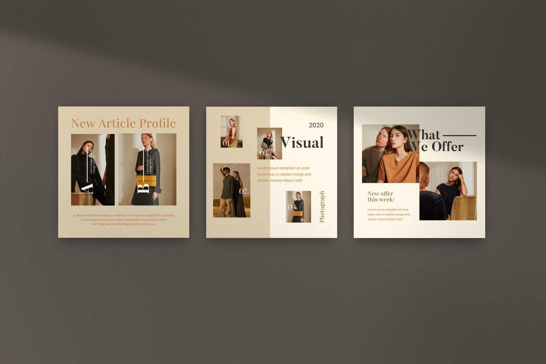 现代时尚服装品牌摄影推广新媒体电商海报模板 Soffie – Fashion Brand Social Media插图(8)