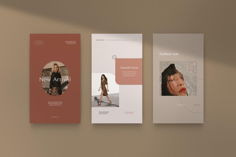 时尚优雅服装品牌推广新媒体电商海报设计PSD模板 Yohzan Instagram Post & Story Brand插图(8)