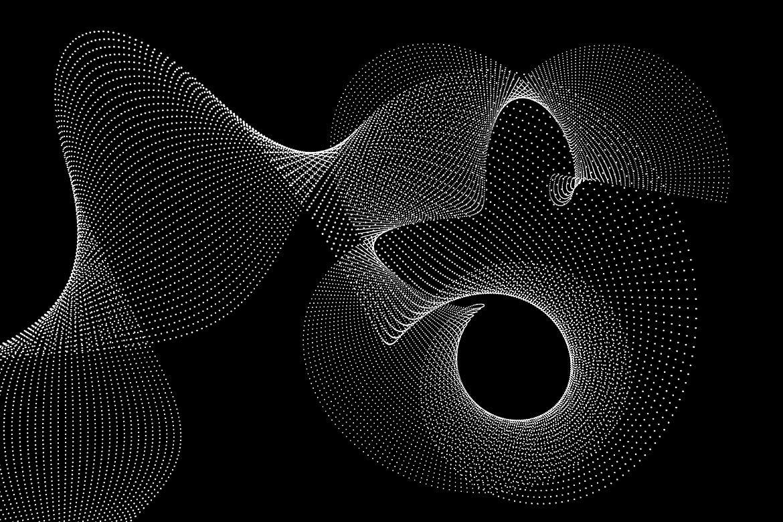 10款抽象虚线波浪漩涡底纹背景PNG免抠图片素材 Abstract Dotted Wavy Swirls Backgrounds插图(8)