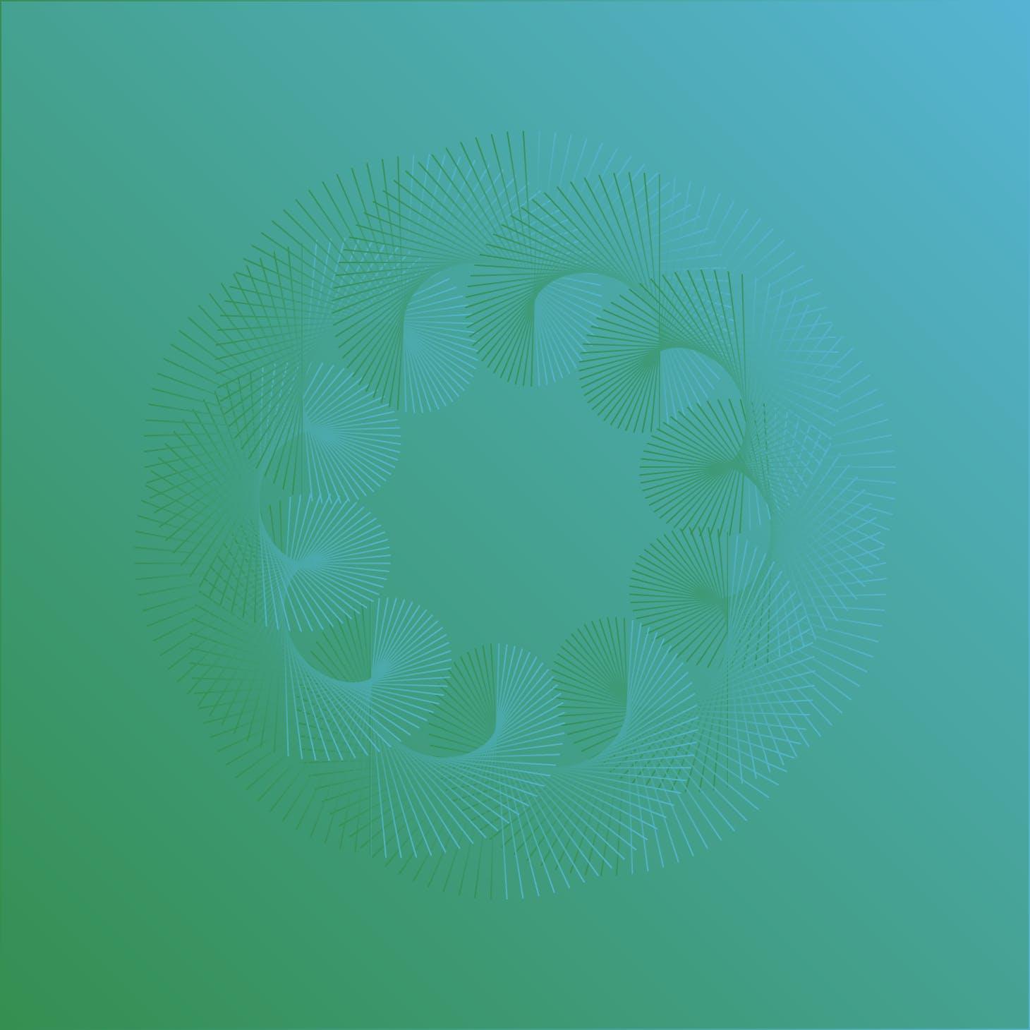 8款螺旋状线条网格矢量图案素材 Geometric Spiral Collection插图(8)