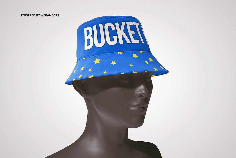4款渔夫帽LOGO印花图案设计展示样机 Bucket Hat Mockup 2插图(8)