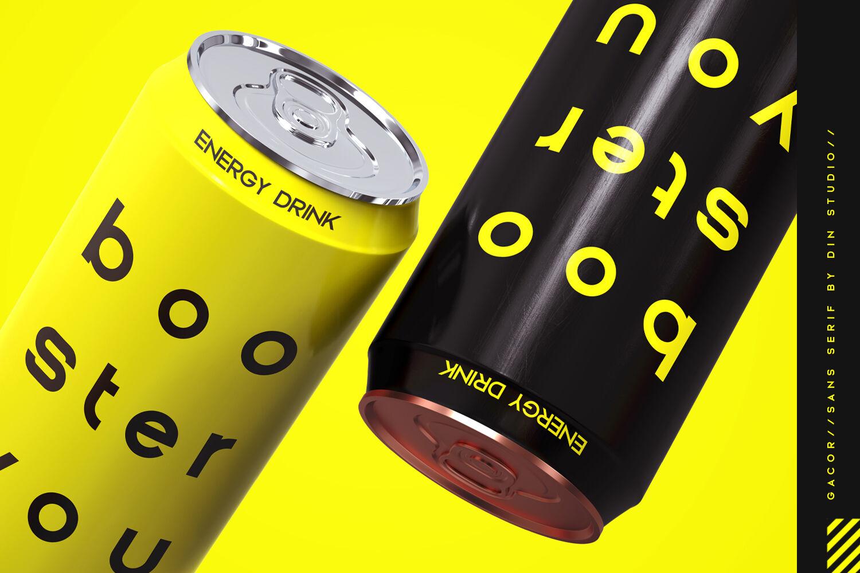 优雅品牌LOGO徽标标题文字设计无衬线英文字体下载 Gacor-Urban Sans Serif Font插图(7)