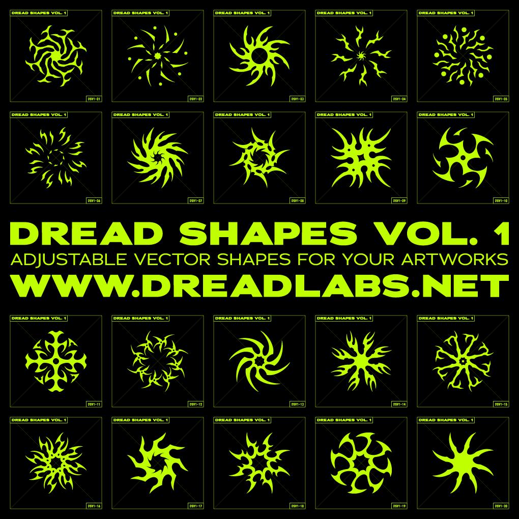 20款潮流抽象曼荼罗图标矢量图形AI素材 Dread Shapes Vol. 1插图