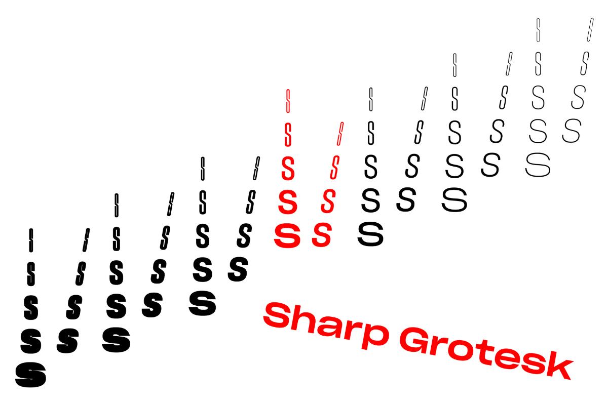 63款时尚海报杂志文字无衬线英文字体素材 Sharp Grotesk Font Family插图