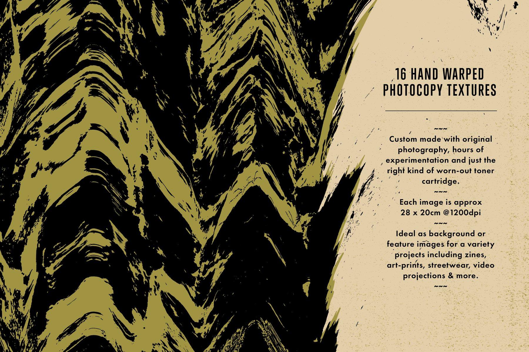 16款酸色调扭曲故障复制纹理平面广告设计背景矢量素材 Acid Tone Warped Copy Textures插图(3)