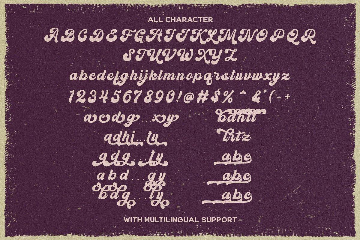 60年代复古粗体标题徽标设计英文字体 Kandani – Retro Bold Script插图(8)