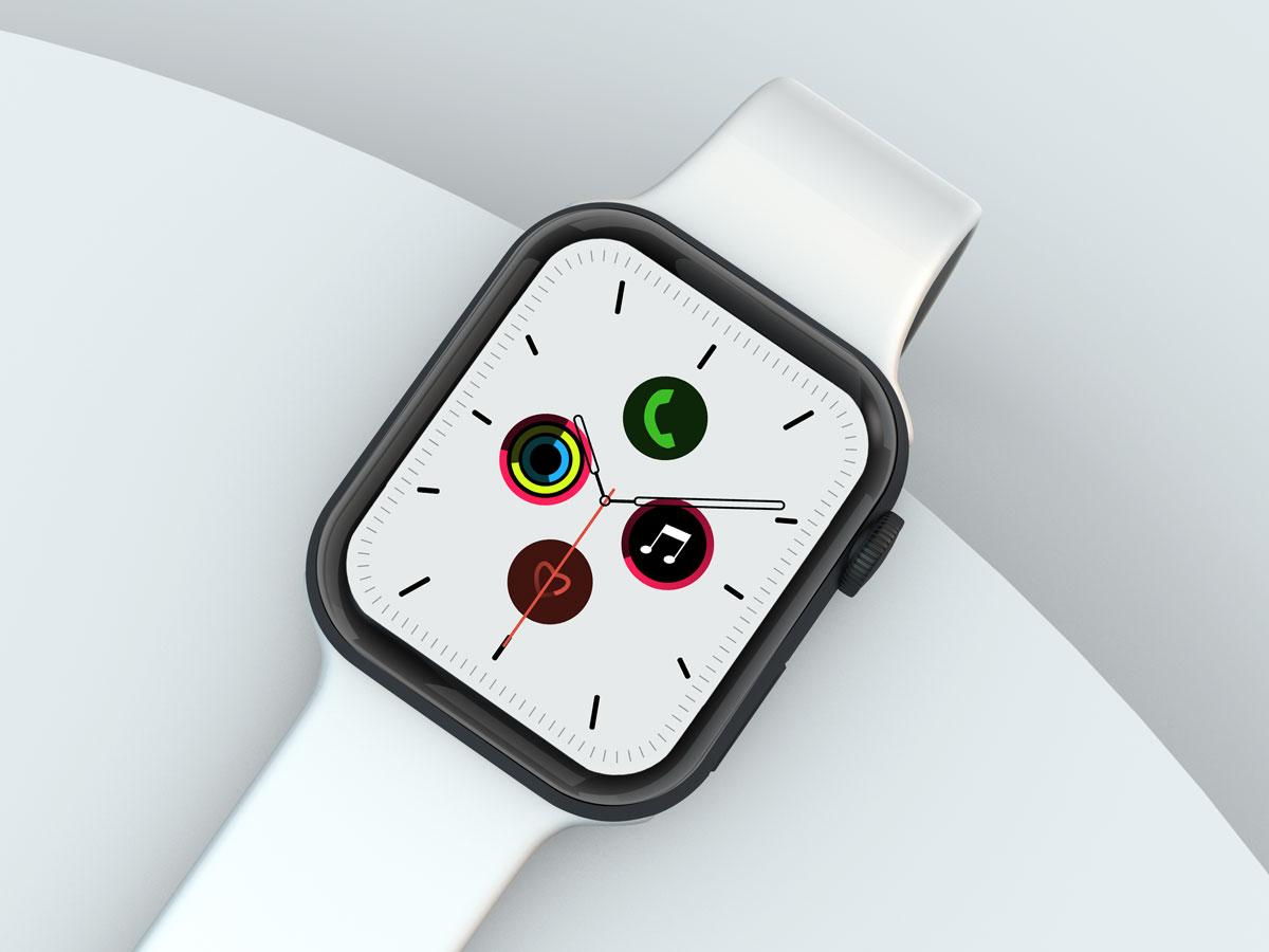 10款苹果手表SmartWatch 6屏幕演示样机PSD模板 Watch 6 Pro PSD Mockups插图