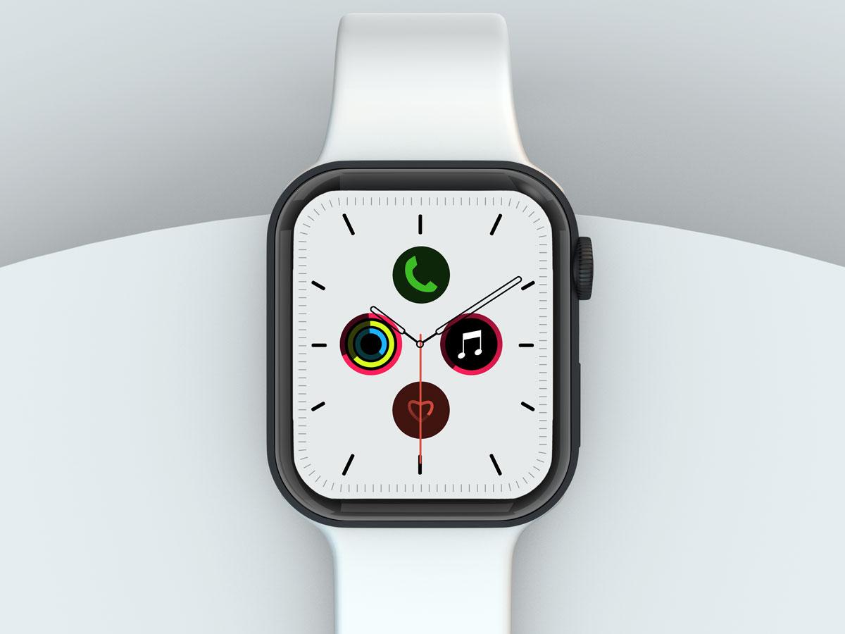 10款苹果手表SmartWatch 6屏幕演示样机PSD模板 Watch 6 Pro PSD Mockups插图(1)