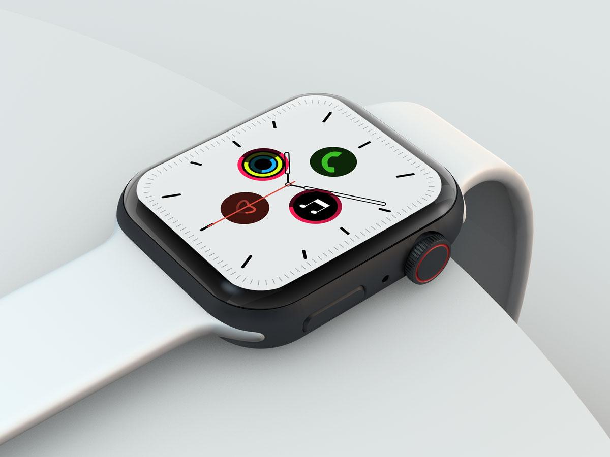 10款苹果手表SmartWatch 6屏幕演示样机PSD模板 Watch 6 Pro PSD Mockups插图(2)