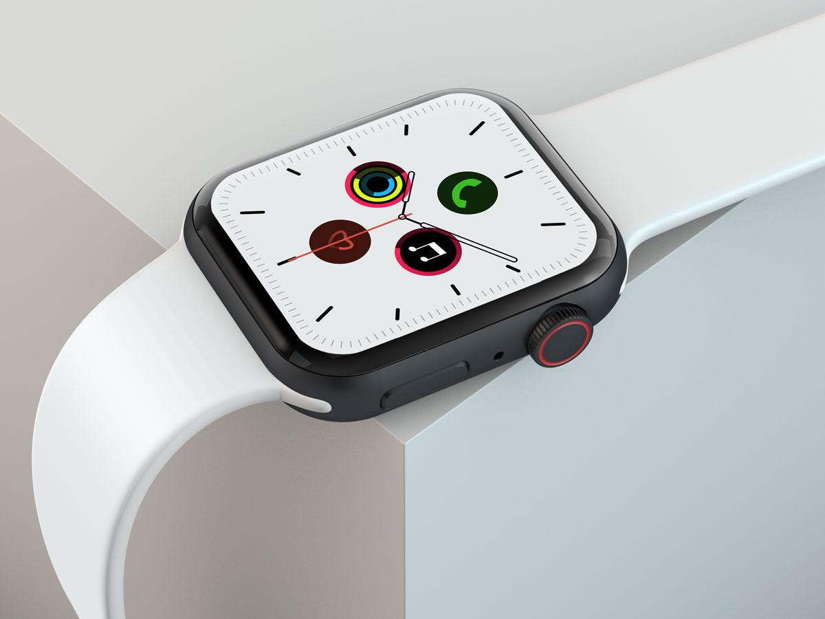 10款苹果手表SmartWatch 6屏幕演示样机PSD模板 Watch 6 Pro PSD Mockups插图(3)
