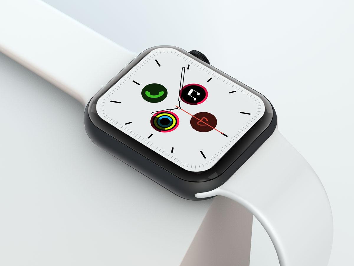 10款苹果手表SmartWatch 6屏幕演示样机PSD模板 Watch 6 Pro PSD Mockups插图(4)