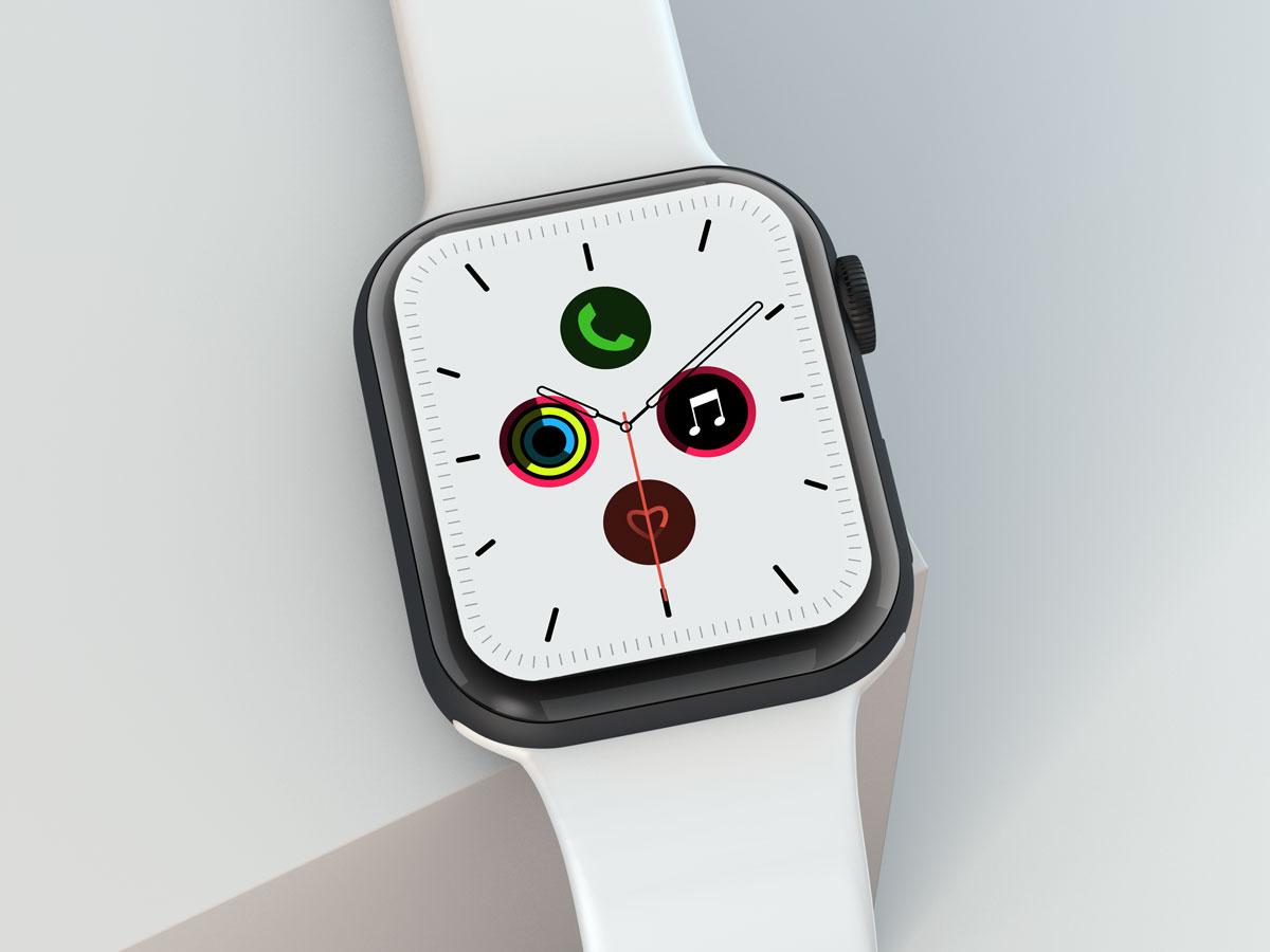 10款苹果手表SmartWatch 6屏幕演示样机PSD模板 Watch 6 Pro PSD Mockups插图(5)