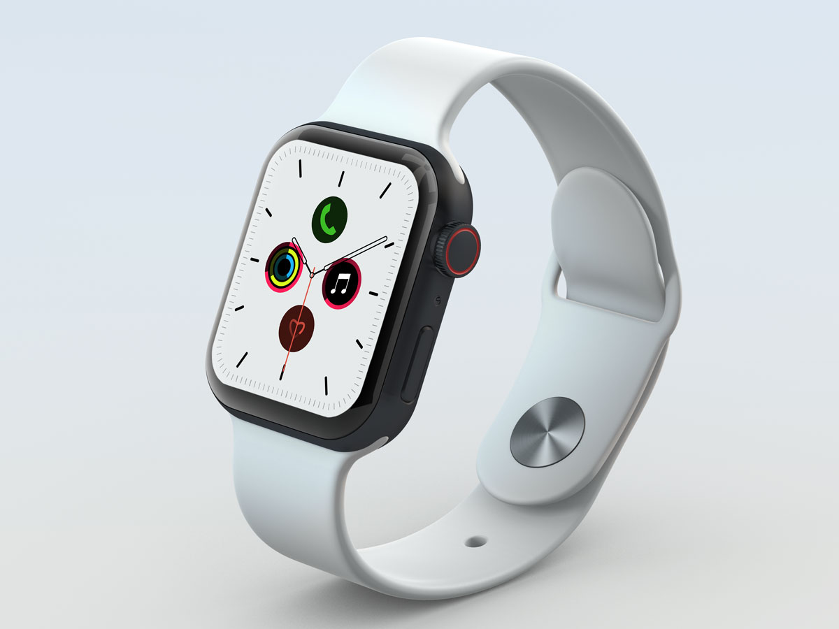 10款苹果手表SmartWatch 6屏幕演示样机PSD模板 Watch 6 Pro PSD Mockups插图(6)