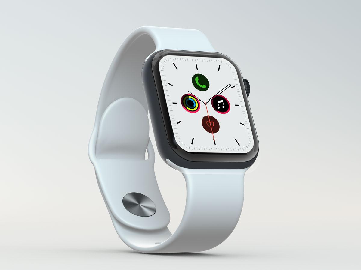 10款苹果手表SmartWatch 6屏幕演示样机PSD模板 Watch 6 Pro PSD Mockups插图(7)