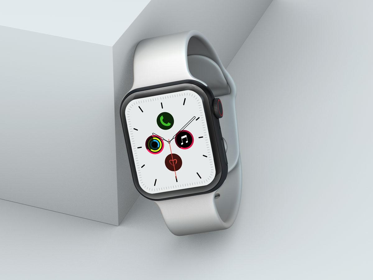 10款苹果手表SmartWatch 6屏幕演示样机PSD模板 Watch 6 Pro PSD Mockups插图(8)