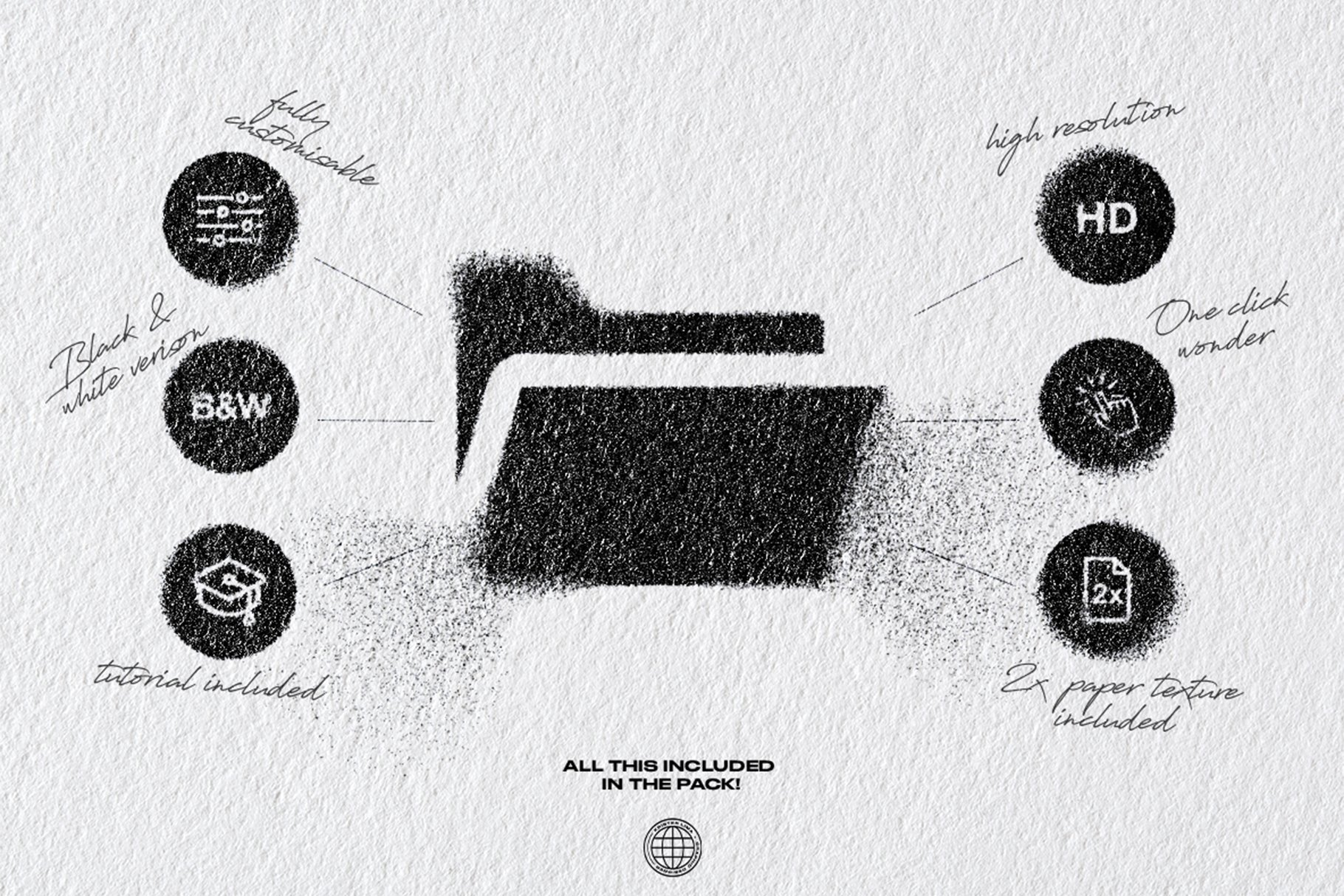 [淘宝购买] 潮流油墨喷涂飞溅效果文字图形设计一键式PS动作模板 The Spray Splatter – One Click插图4