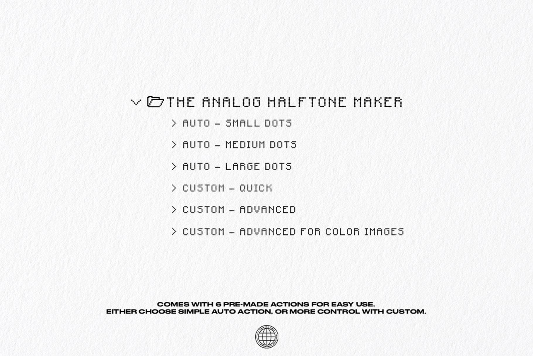 [淘宝购买] 潮流复古半调波点效果文字图形设计处理一键式PS动作 The One Click Analog Halftone Maker插图6