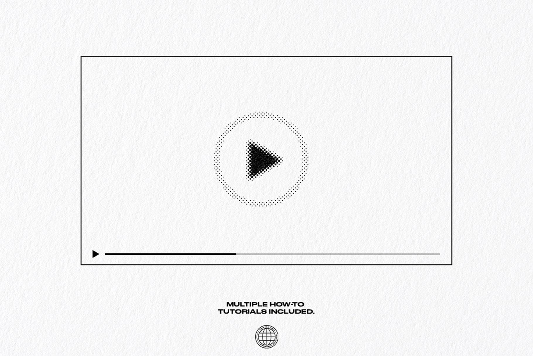 [淘宝购买] 潮流复古半调波点效果文字图形设计处理一键式PS动作 The One Click Analog Halftone Maker插图9
