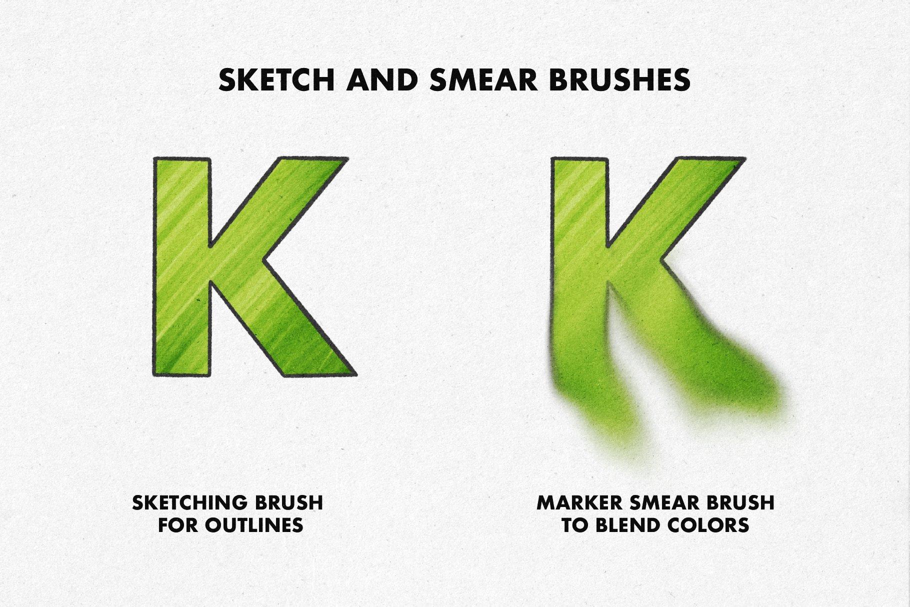 26款马克记号笔画笔Precreate笔刷素材 Marker Brushes For Procreate 5插图(7)