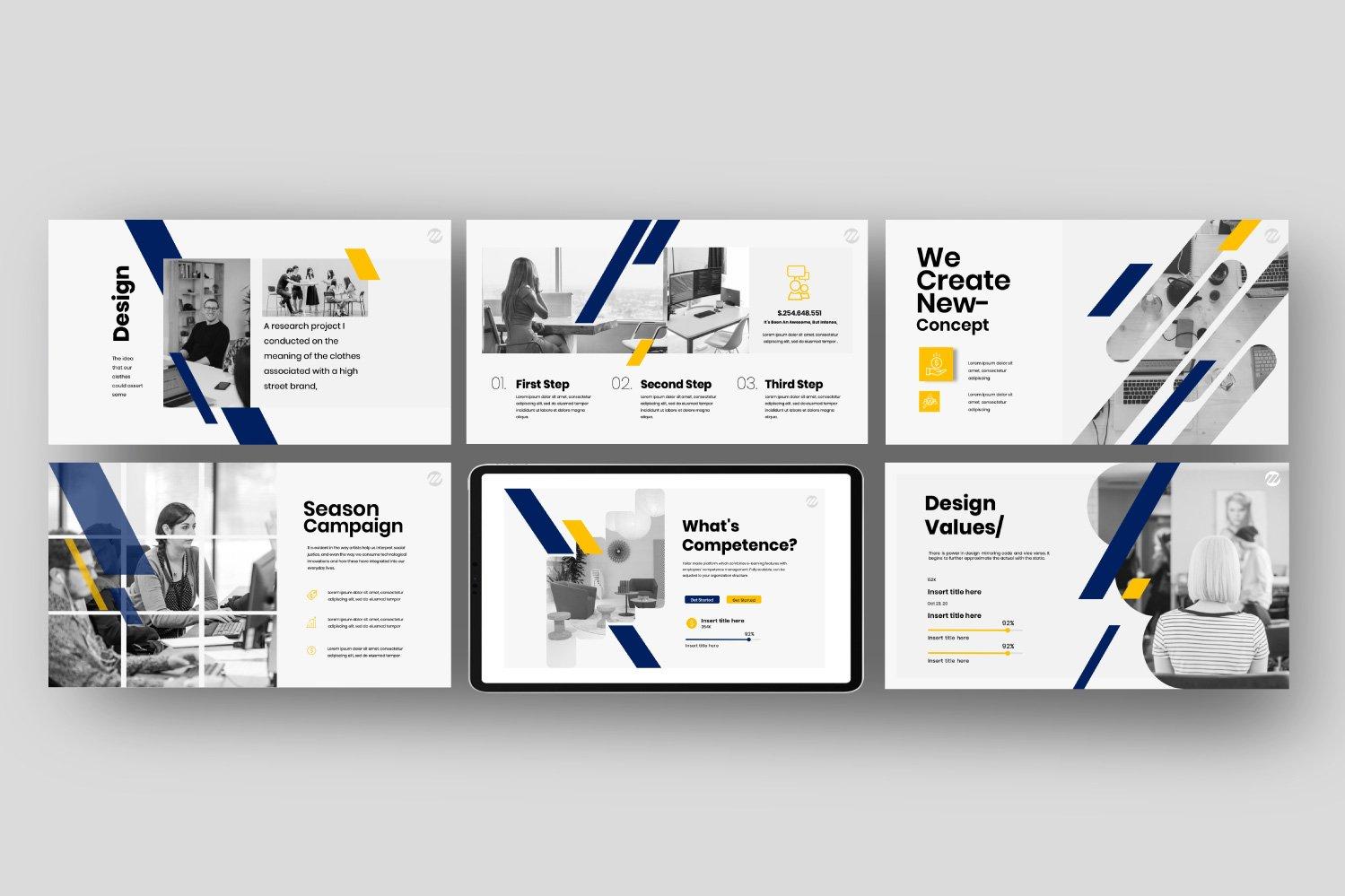 简约商务策划案图文排版演示文稿设计模板 Marvet – Business Powerpoint插图(6)