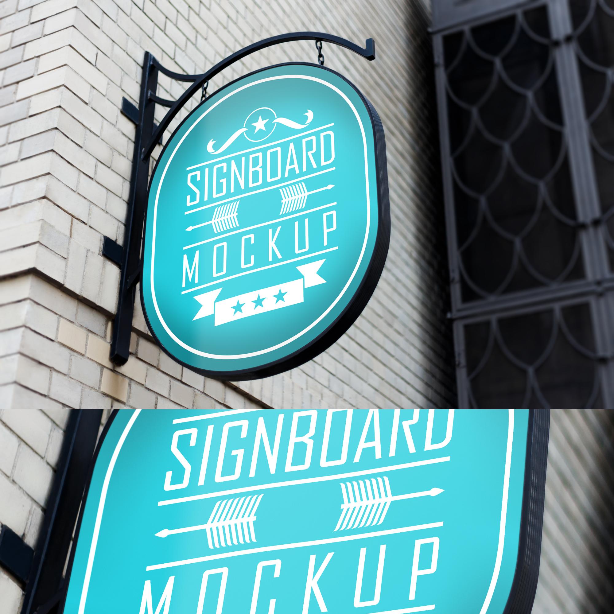 6款霓虹灯效果招牌设计展示智能贴图样机 6 Neon Signboard Mockups插图(5)