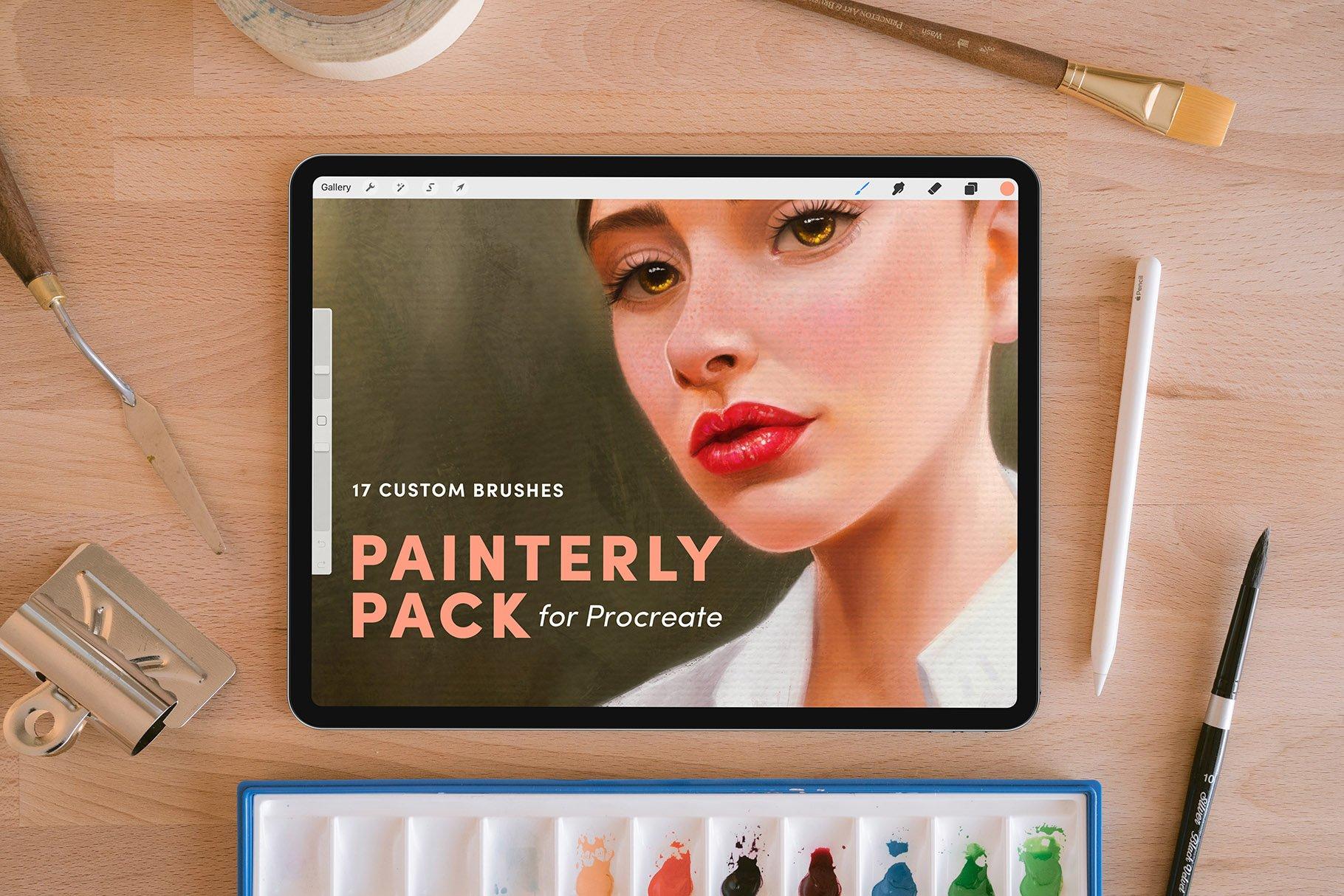 17款油画绘画效果画笔Procreate笔刷 Painterly Pack – Procreate Brushes插图