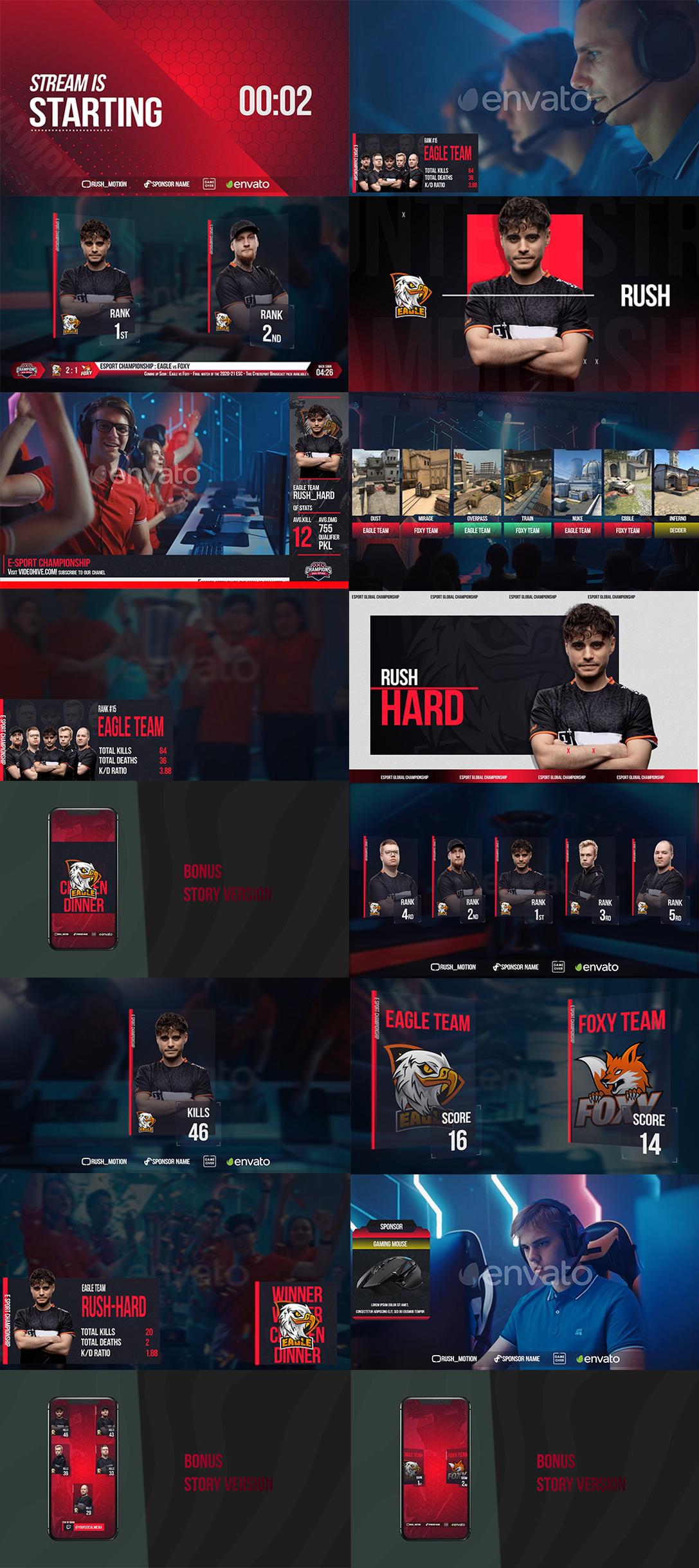 电子竞技视频介绍设计AE模板素材 Esport Broadcast package插图