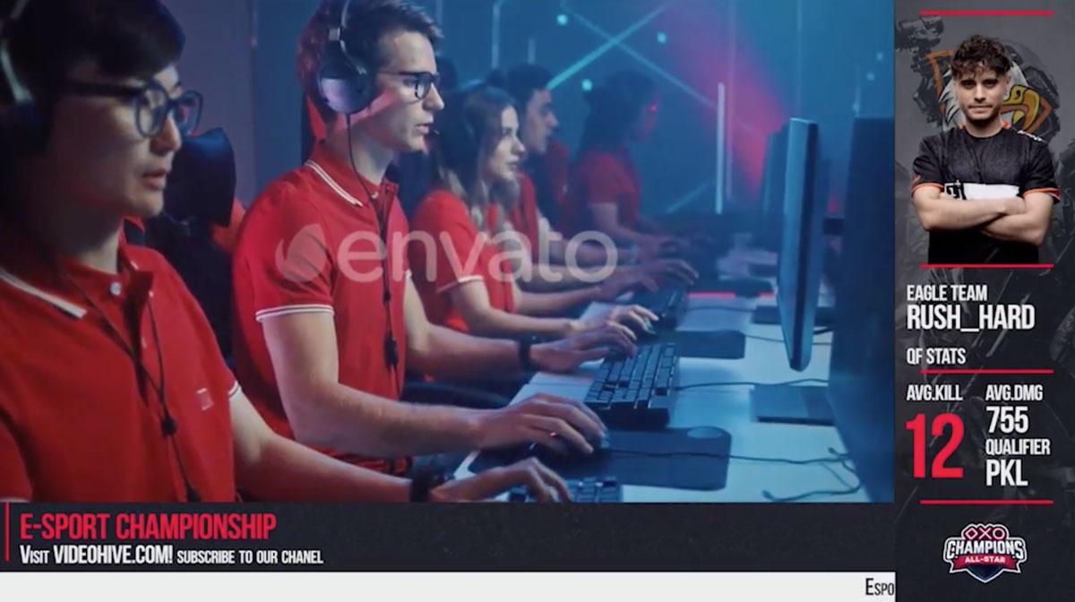 电子竞技视频介绍设计AE模板素材 Esport Broadcast package插图(3)
