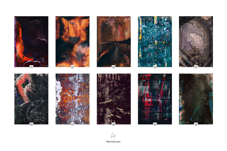 [淘宝购买] 32款潮流高清炫酷丙烯酸背景纹理图片设计素材 Grunge – 32 Experimental Backgrounds插图(2)
