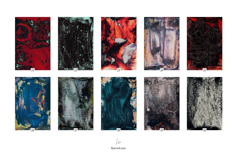 [淘宝购买] 32款潮流高清炫酷丙烯酸背景纹理图片设计素材 Grunge – 32 Experimental Backgrounds插图(4)