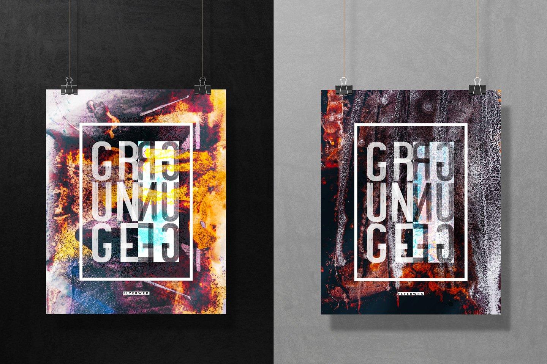 [淘宝购买] 32款潮流高清炫酷丙烯酸背景纹理图片设计素材 Grunge – 32 Experimental Backgrounds插图(5)
