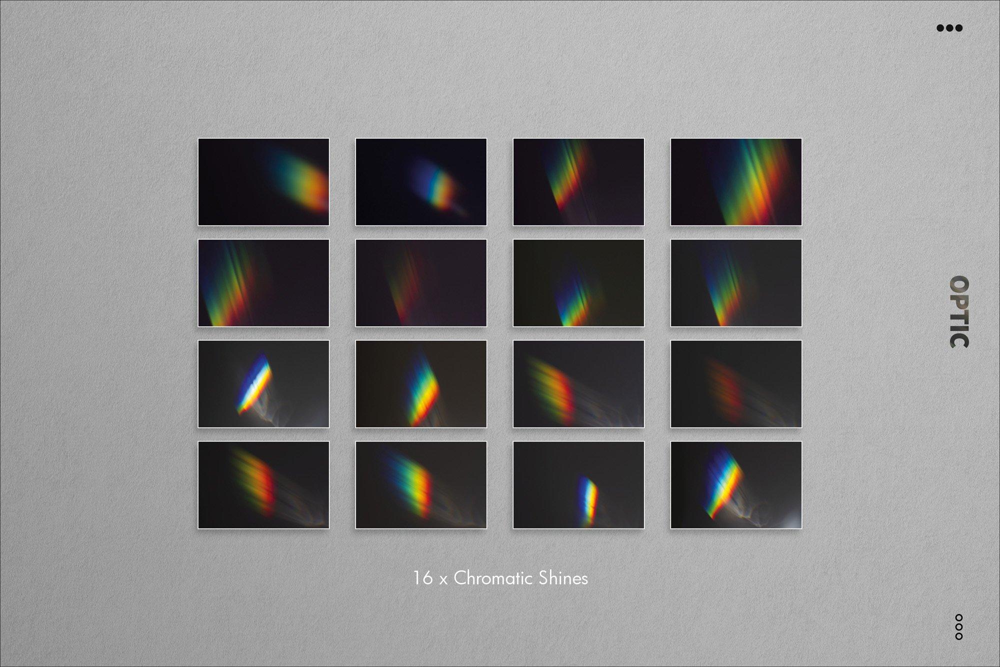 70种高清光谱棱镜反射漏光PS叠加层图片素材 OPTIC Prism & Rainbow Light Leaks插图(13)